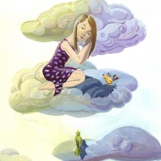 niña nubes